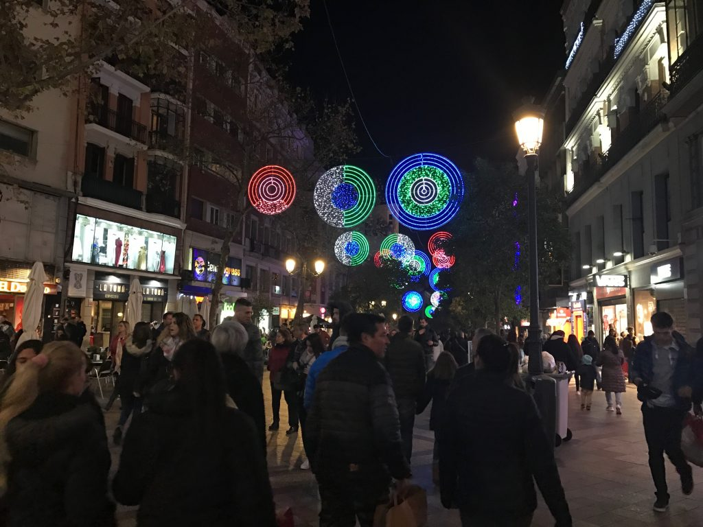 Lights in Madrid Street