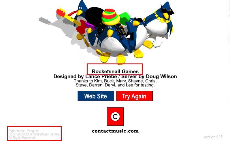 rocketsnail games login screen